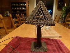 Rare Heywood-Wakefield Wicker Table Lamp Arts & Crafts