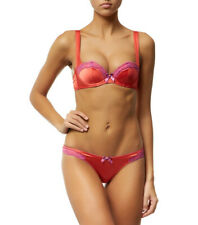 AGENT PROVOCATEUR LUCIE BRA THONG SET PINK 32DD SMALL AP2 8-10 BNWT