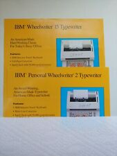 Ibm Lexmark Personal Wheelwriter 2 And Wheelwriter 15 Sales Brochure 1 Each