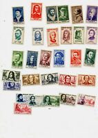 France :timbres 5 series neufs ** 1066/71-1082/87-1166/71-1207/12-1257/62