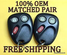 OEM MATCHED PAIR GM GMC CHEVY KEYLESS ENTRY REMOTE FOBS LHJ011 15132197 15132198