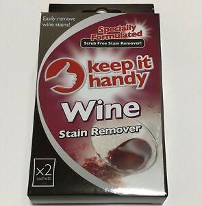 Wine Stain Remover Scrub Free Keep It Handy 5 x 30g Sachets