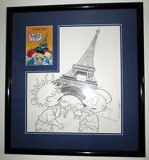 RUGRATS in PARIS original art cover MOVIE promo 14x16 SCOTT ROBERTS sketch 1998