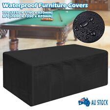 7ft/8ft Outdoor Pool Snooker Billiard Table Cover Polyester Waterproof Cap Black