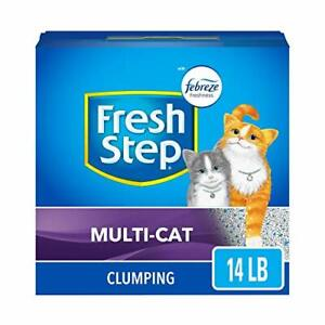 Fresh Step Scented Litter with The Power Febreze Clumping Cat Litter 14 lb