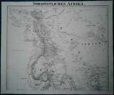 1849 Sohr Berghaus map NORTHEASTERN AFRICA (EGYPT TO ETHIOPIA), in 2 sheets