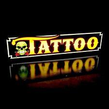 Tattoo Parlor Shop Skull Led Sign Horizontal Quality Light Box Neon Alternative