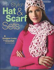 STYLISH HAT & SCARF SETS ~ AMERICAN SCHOOL OF NEEDLEWORK crochet