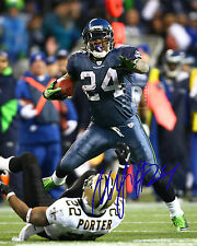 "Marshawn Lynch Seattle Seahawks Great Signed 8""x 10"" Color PHOTO REPRINT"
