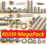 Yamaha RD250 - Nut / Bolt / Screw Stainless Fasteners MegaPack