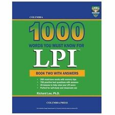 Columbia 1000 Words You Must Know for LPI: Book Two with Answers (Paperback or S