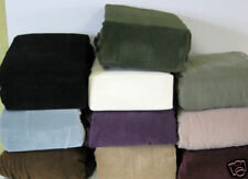 "PIQUE SOFA ""STRETCH"" COUCH SLIP COVER----BLACK---- PICK FROM 10 COLORS"