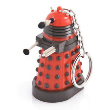 DR WHO RED DALEK TORCH KEYRING - Official Light Up Key Chain