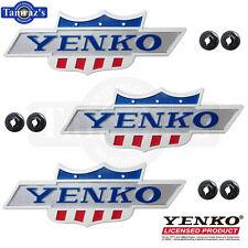 "68-69 Camaro Nova "" YENKO "" Emblem DieCast Metal YOLP LICENSED Product QTY 3"