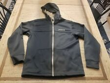 Men's Patagonia Slopestyle Fleece Zipper Hoody Jacket Large Gray/Tan