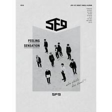 SF9 FEELING SENSATION 1st Debut Single Album CD+P.Book+Post Card Set+Card SEALED