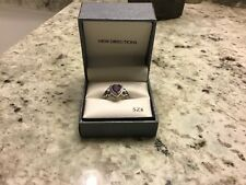 womens New Directions heart ring amethyst size 8