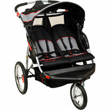 Baby Trend Double Jogger Stroller Seats Two Lightweight 5 point Harness