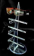 Clear Acrylic Sunglasses Display Stand Eyeglasses Display Rack Holder 5 Layer