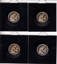 Deutschland Satz 4 x 50 Pfennig BRD 1980 - spiegelglanz/PP - D-F-G-J aus KMS