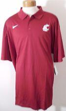 NWT Nike Washington State Cougars Mens Sideline Polo Shirt M Crimson MSRP$70