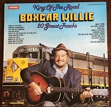 BOXCAR WILLIE,KING OF THE ROAD,VINTAGE 1980 ALBUM,LP33,VINYL,EXCELLENT CONDITION