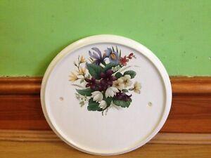 Circular Ceramic - Floral Pottery-House Plaque