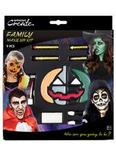 Family Halloween Make Up Kit Fancy Dress Witch Devil Skeleton Vampire Face Paint