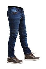 Men Motorbike Motorcycle SKINNY SLIM JEANS STRETCH DENIM with Protective Lining