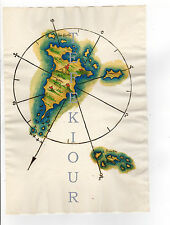 Greece Skyros Map REPRODUCTION of Dalli Sonetti 1485 ON OLD paper 1690