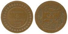 TUNISIA 5 CENTIMES AH 1326-1908 A #6625A