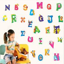 DIY A-Z Alphabet Animaux Autocollant Mural Décoration Décor Crèche D'enfants
