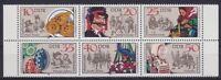 DDR Mi Nr. 2716 - 2721 ** 6er Block, Volkstrachten 1982, postfrisch, MNH