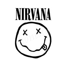 Smiling Face Nirvana Window Car Sticker Laptop Truck Black Vinyl Decal Sticker