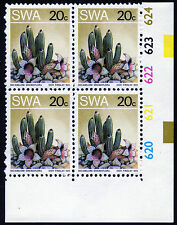 SOUTH WEST AFRICA 1973 CYLINDER BLOCK 20c VARIETY EXTRA CACTUS + DOT