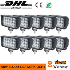 10x 45W LED Work Light square Spot beam Truck Offroad 4x4 SUV Car Tractor pickup
