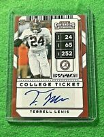 TERRELL LEWIS AUTO ROOKIE CARD JERSEY #24 RAMS 2020 CONTENDERS DRAFT PICKS RC SP