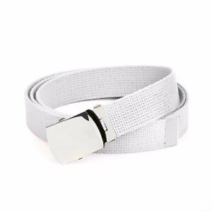 Hold'Em Military Canvas Webbing Belts for MEN'S–Polished Silver Buckle – Univers