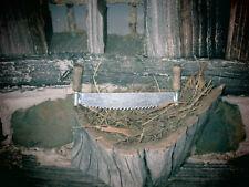 Krippenzubehör-  Baumsäge aus  Holz/Metall -Naturholz - Handarbeit