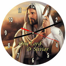 "8"" WALL CLOCK - Jesus 2 Christian Christ Religious Spiritual God - Kitchen Bath"