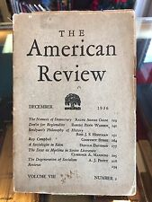 The American Review, Cram; Penn Warren VERY SCARCE!