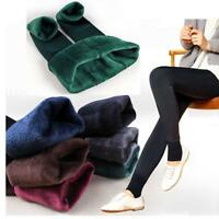Womens Fleece Lined Leggings Stretch Warm Winter Stocking Thermal Thick Pants