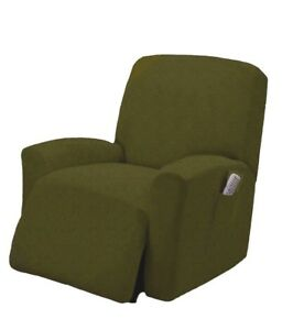 Spandex Pique Stretch Form Fit Recliner Chair Lazy Boy Cover Slipcover - Olive