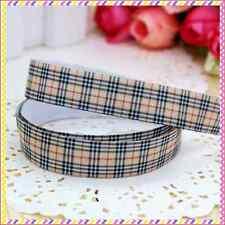 1 meter 16mm 5/8 Fold Over Elastic FOE check  print ribbon headband diy