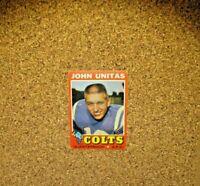 1971 Topps Football #1 Johnny Unitas (Baltimore Colts)