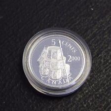 2000 CANADA 5 Cent Silver proof Les Voltigeurs de Quebec  coin only