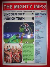 Lincoln City 1 Ipswich Town 0 - 2017 FA Cup - souvenir print