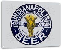 Indianapolis Brewing Beer Logo Retro Bar Pub Man Cave Wall Decor Metal Tin Sign