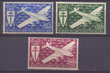 AEF FRANCAISE 24-26 MnH air mail luftpost airoplane 0763