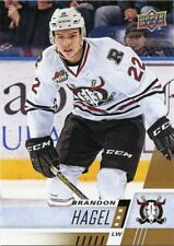 17/18 UPPER DECK CHL #186 BRANDON HAGEL RED DEER REBELS *48722
